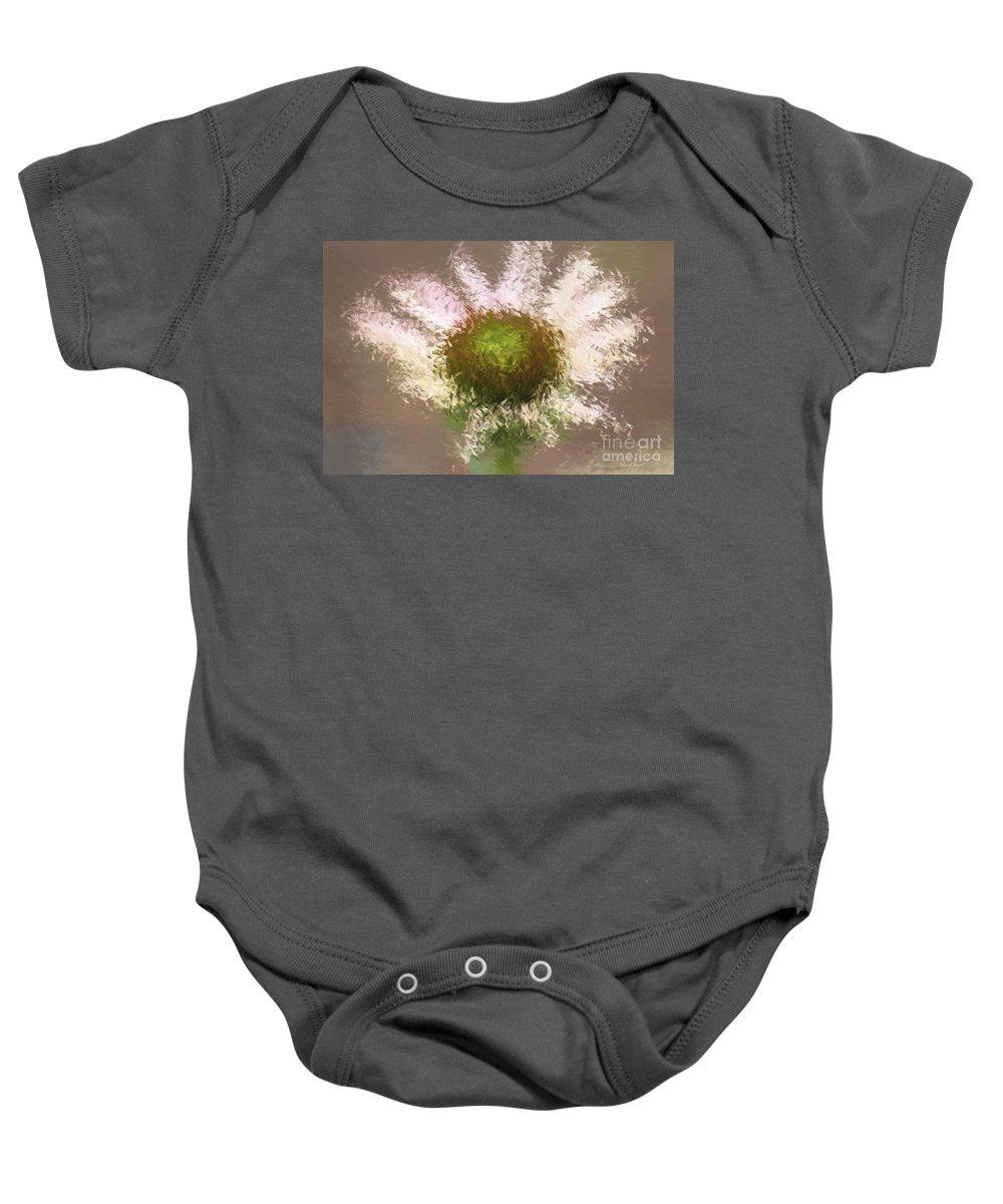 Flower Baby Onesie featuring the digital art Impressionistic Echinacea by Deborah Benoit