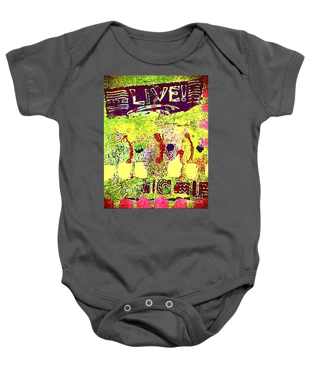 Women Baby Onesie featuring the painting Indefatigable by Angela L Walker