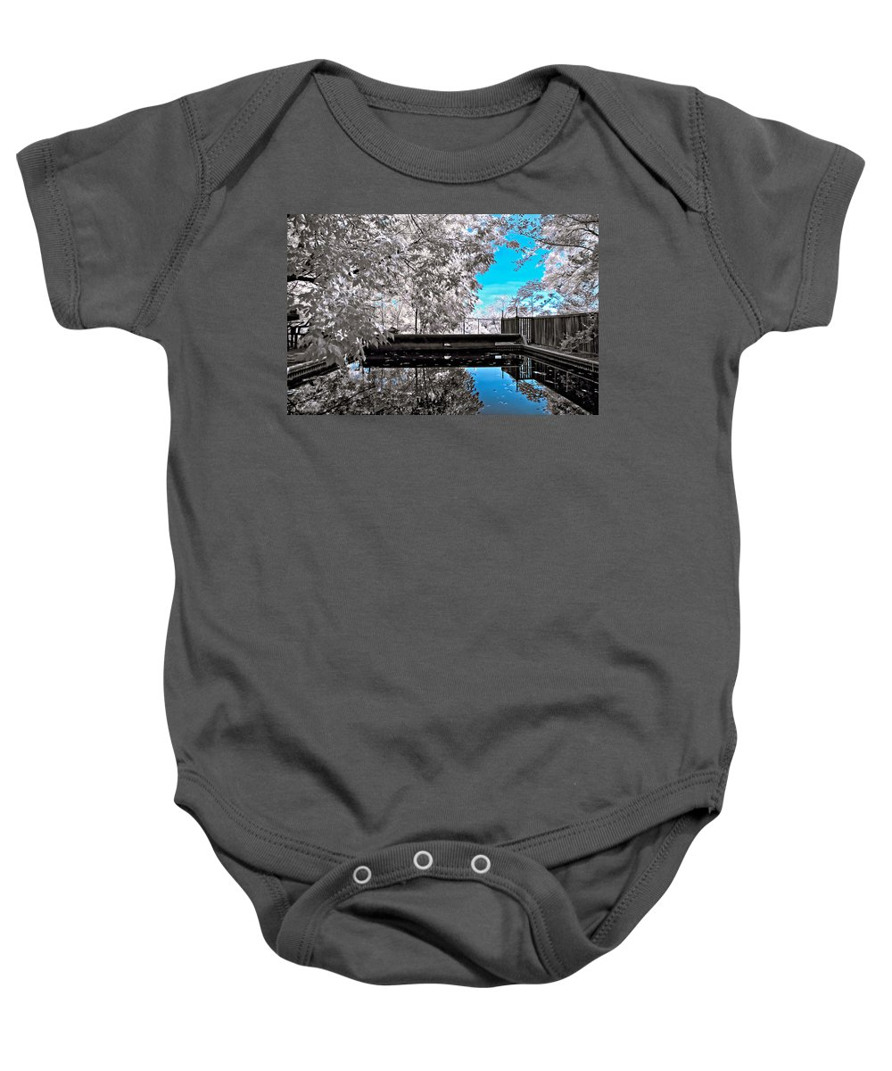 Infrared Baby Onesie featuring the photograph Infrared Summer 2 by Steve Harrington