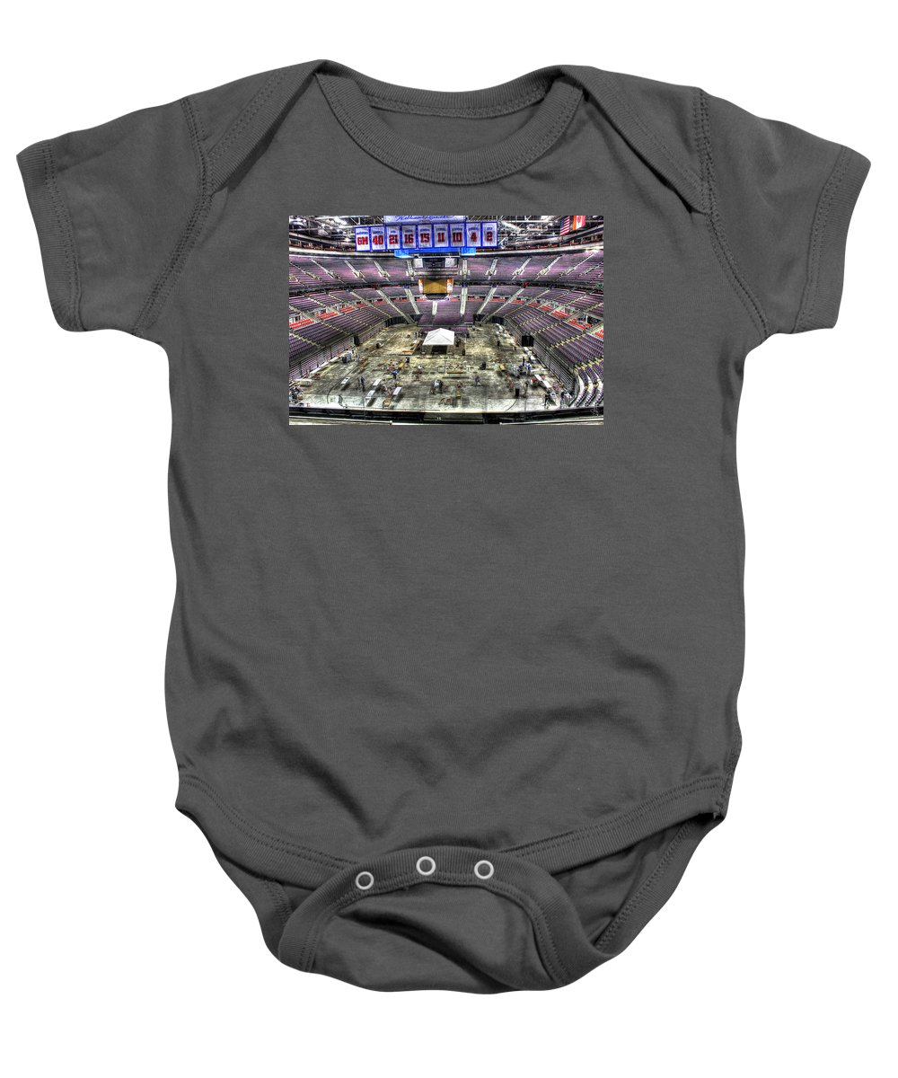Baby Onesie featuring the photograph Inside The Palace Of Auburn Hills 2 by Nicholas Grunas