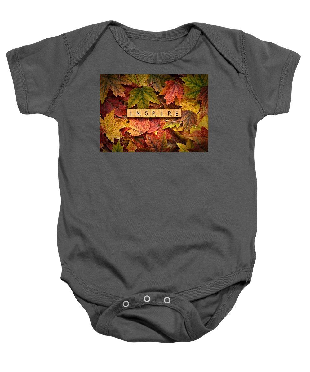 Autumn Baby Onesie featuring the photograph Inspire-autumn by Onyonet Photo Studios