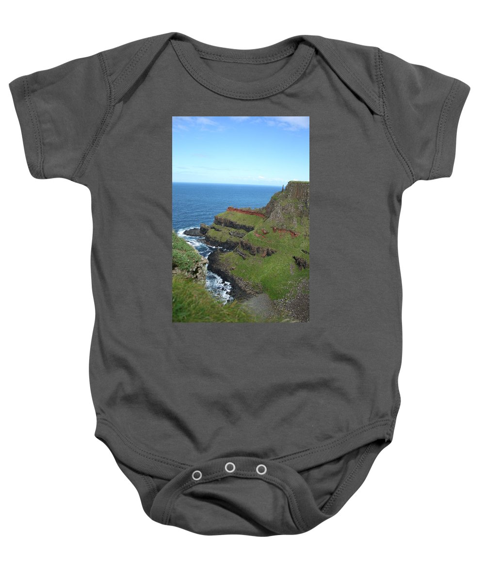 Giants Causeway Baby Onesie featuring the photograph Ireland 0012 by Carol Ann Thomas