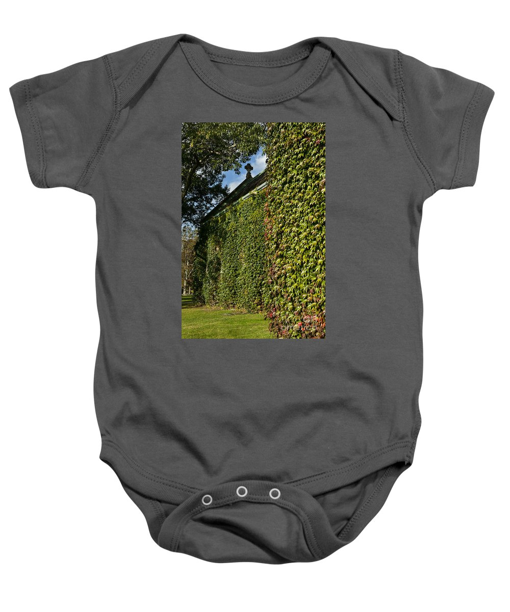Connecticut Baby Onesie featuring the photograph Ivy Covered Chapel by John Greim