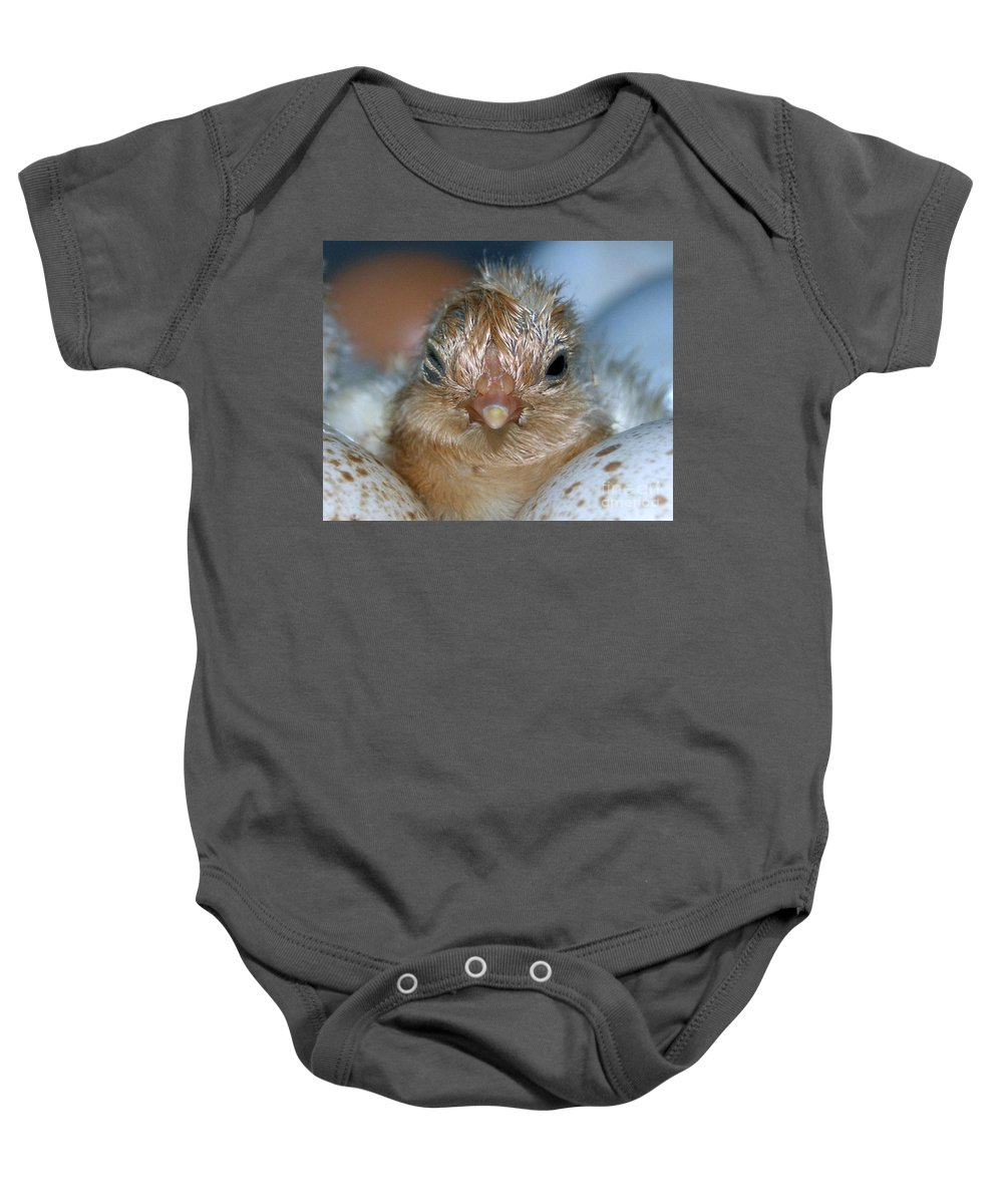 Hatched Baby Onesie featuring the photograph Just Hatched by Grace Grogan