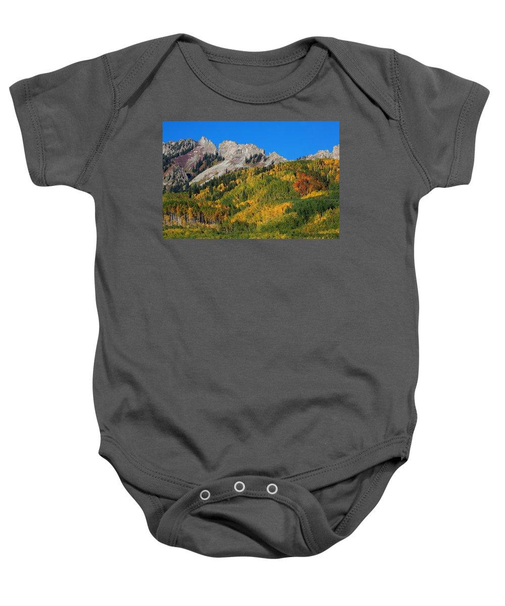 Kebler Pass Photograph; Aspen Photograph Baby Onesie featuring the photograph Kebler Pass by Jim Garrison