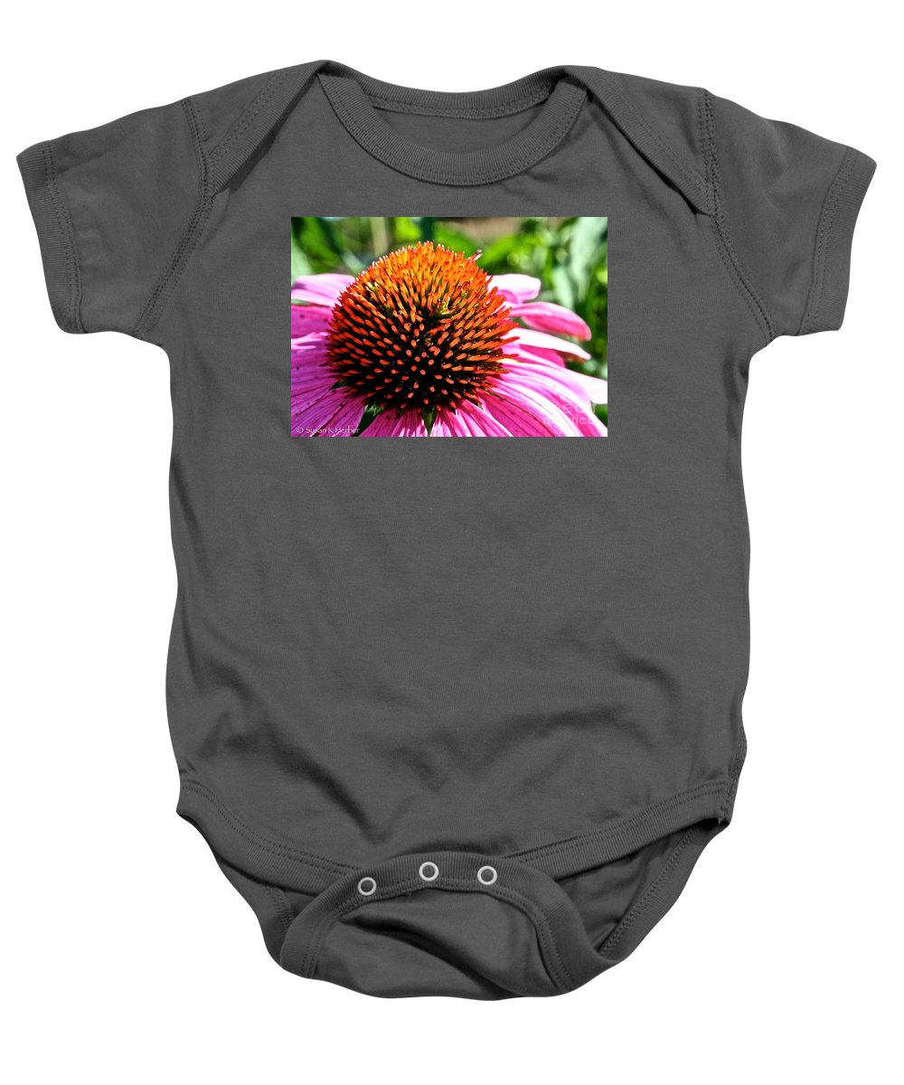 Plant Baby Onesie featuring the photograph King Cone by Susan Herber