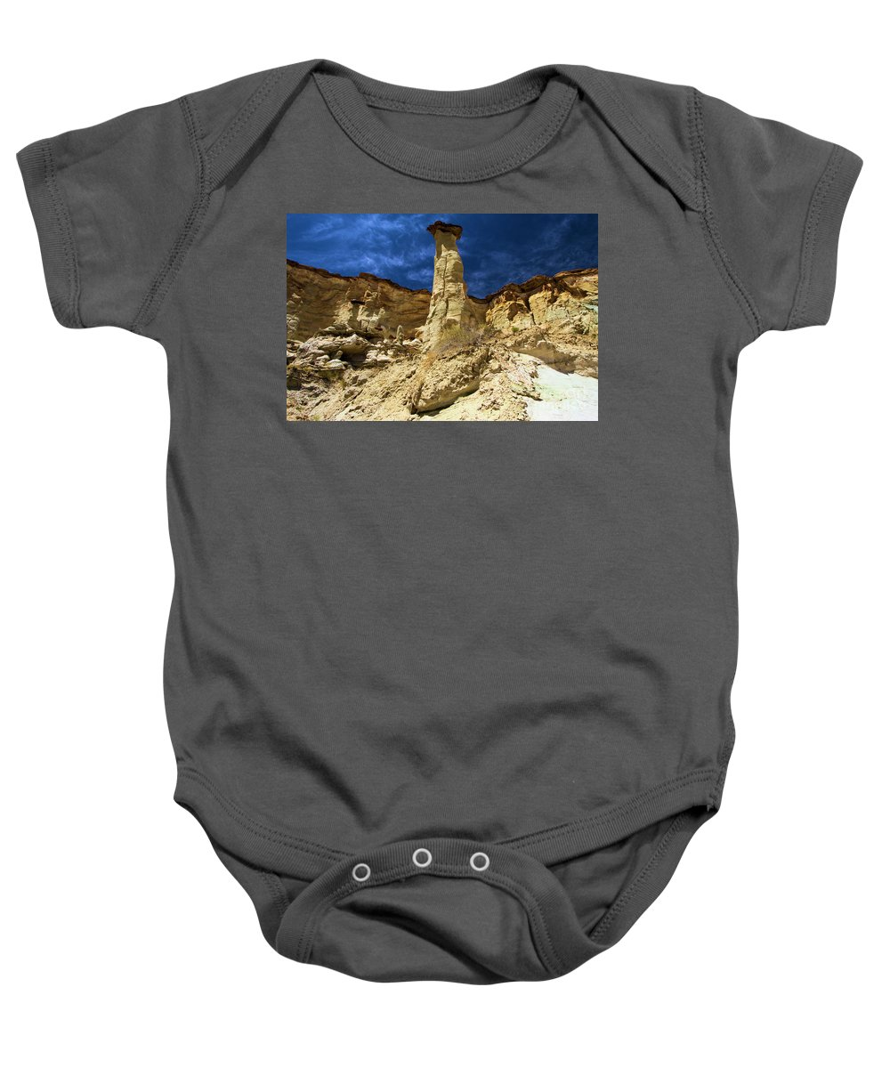 Wahweap Hoodoos Baby Onesie featuring the photograph King Of Wahweap by Adam Jewell
