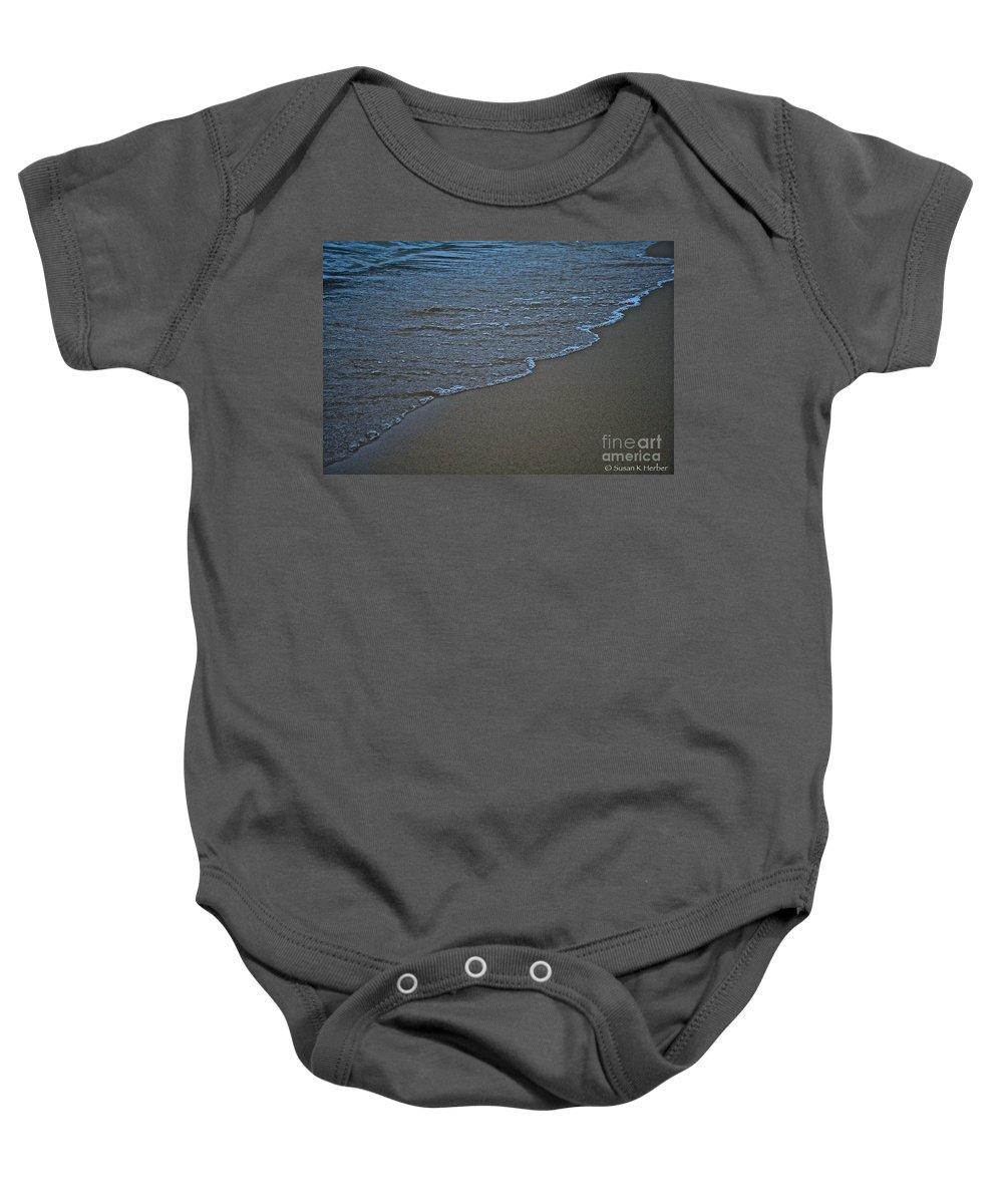 Lake Michigan Baby Onesie featuring the photograph Lake Michigan Beach by Susan Herber