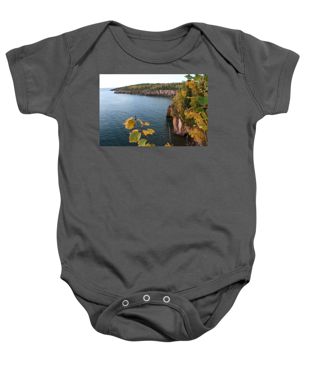 Baby Onesie featuring the photograph Lake Superior Winter by Joi Electa
