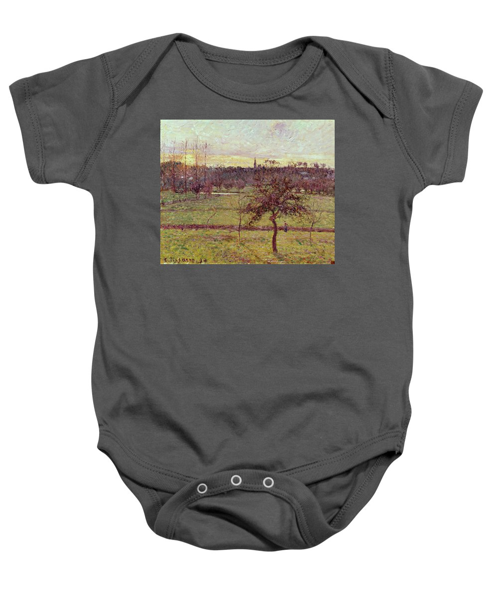 Landscapes Baby Onesie featuring the painting Landscape At Eragny by Camille Pissarro