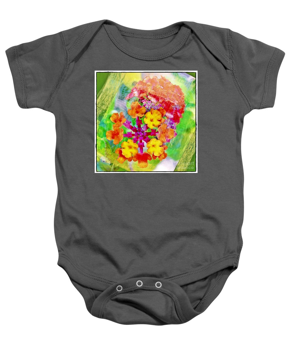Lantana Baby Onesie featuring the photograph Lantana by Judi Bagwell