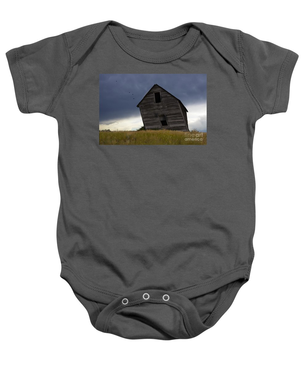 Homestead Baby Onesie featuring the photograph Leaning A Little 2 by Bob Christopher