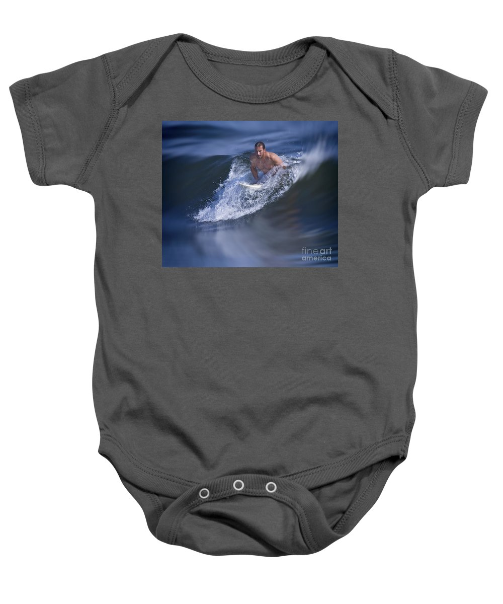 Surfer Baby Onesie featuring the photograph Let's Go Surfing by Susan Candelario