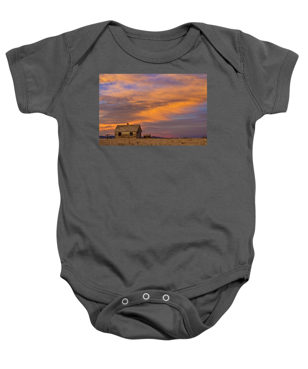 North Baby Onesie featuring the photograph Little House On The Colorado Prairie 2 by James BO Insogna