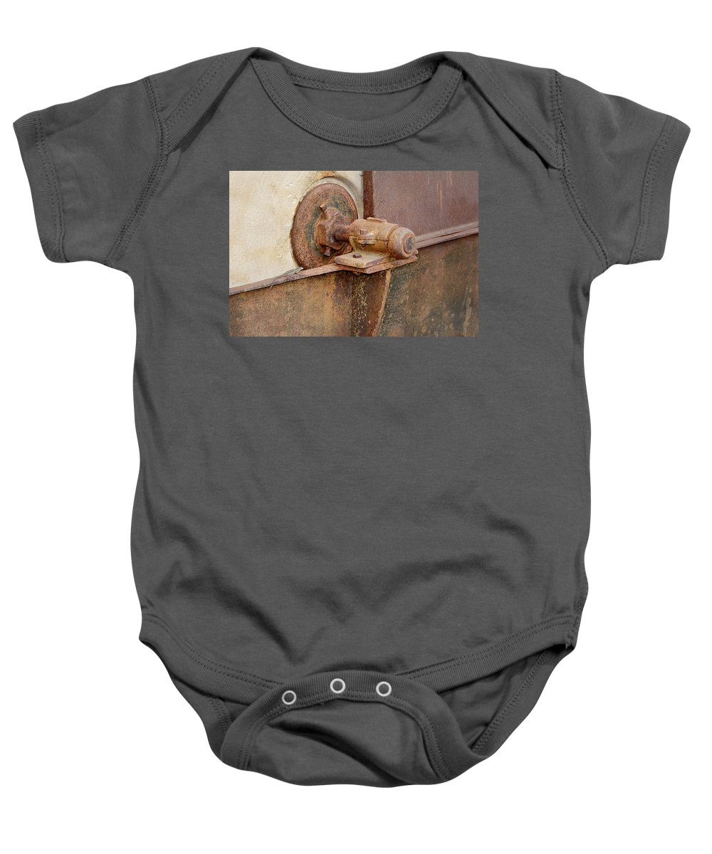 Lizzard Baby Onesie featuring the photograph Lizard Guard by Phyllis Denton