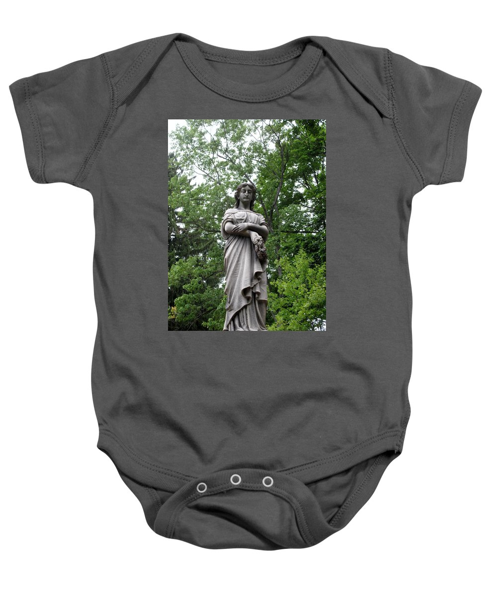 Lady Baby Onesie featuring the photograph Looking Down by Michele Nelson