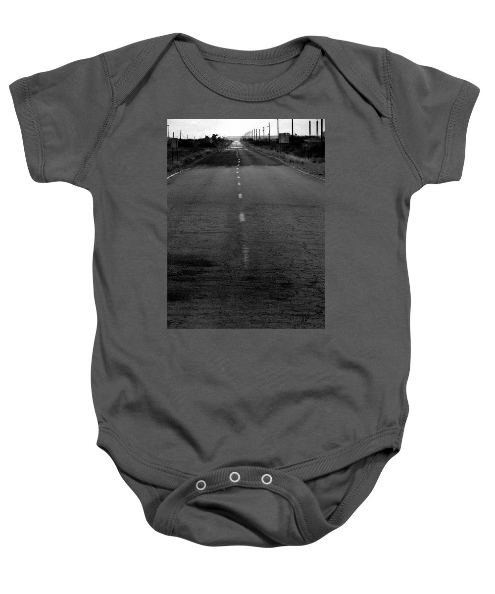 Baby Onesie featuring the photograph Arizona - The Real Rt 66 - Greeting Card by Mark Valentine