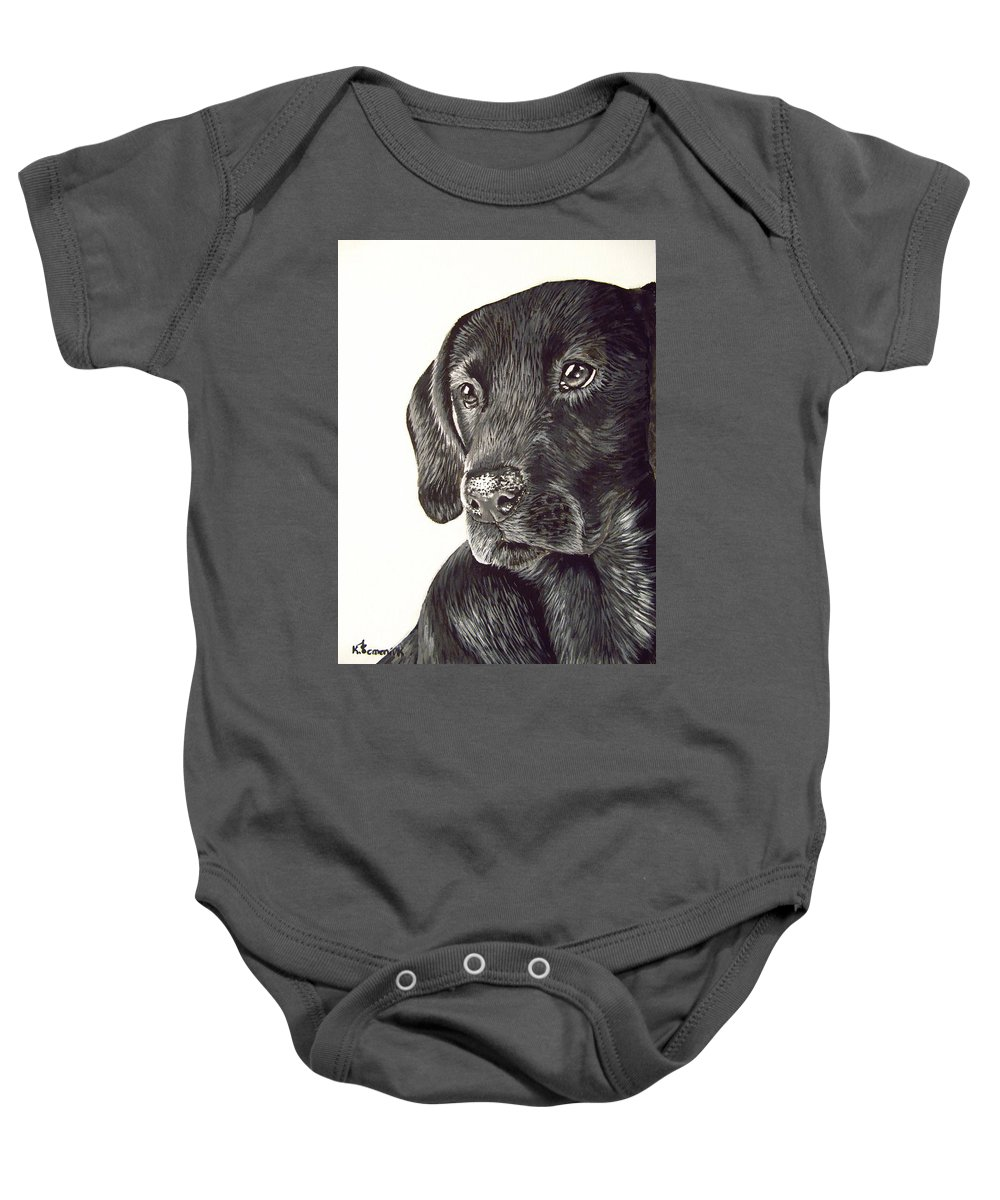 Dog Baby Onesie featuring the painting Loyalty by Kayleigh Semeniuk