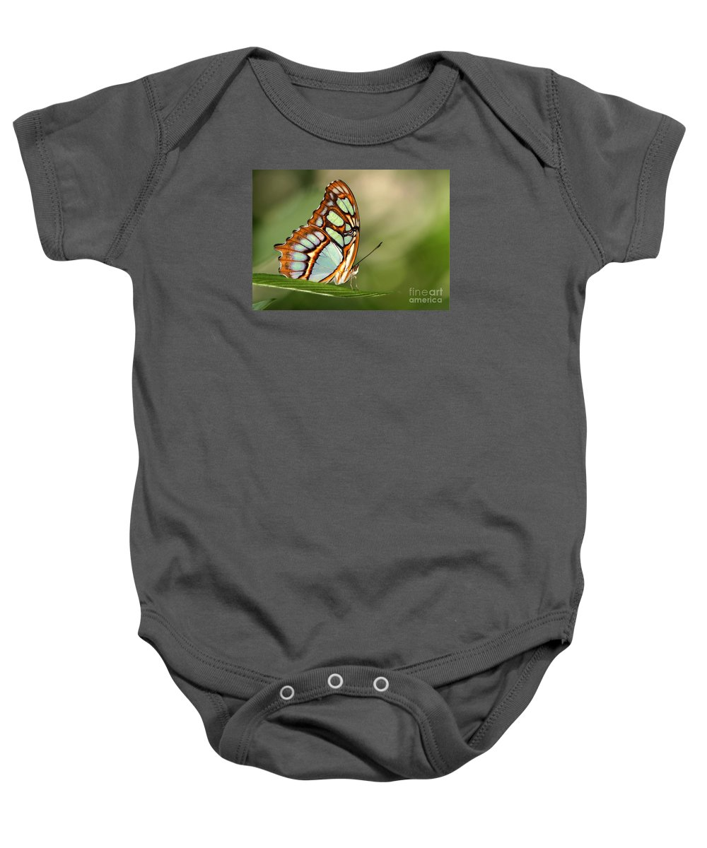 Butterfly Baby Onesie featuring the photograph Malachite Butterfly by Sabrina L Ryan