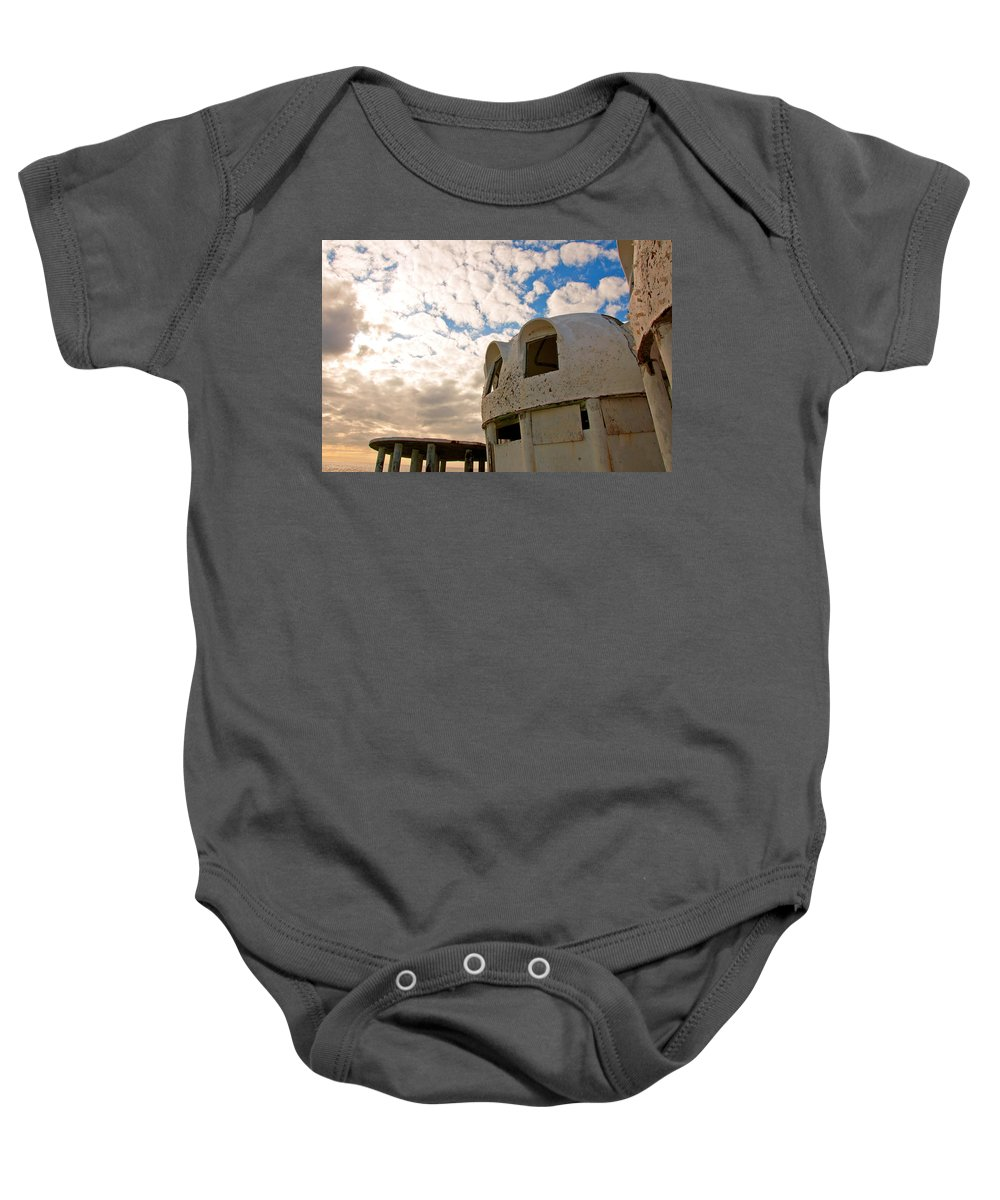 Cape Ramano Baby Onesie featuring the photograph Meet Me On The Veranda by Christine Stonebridge