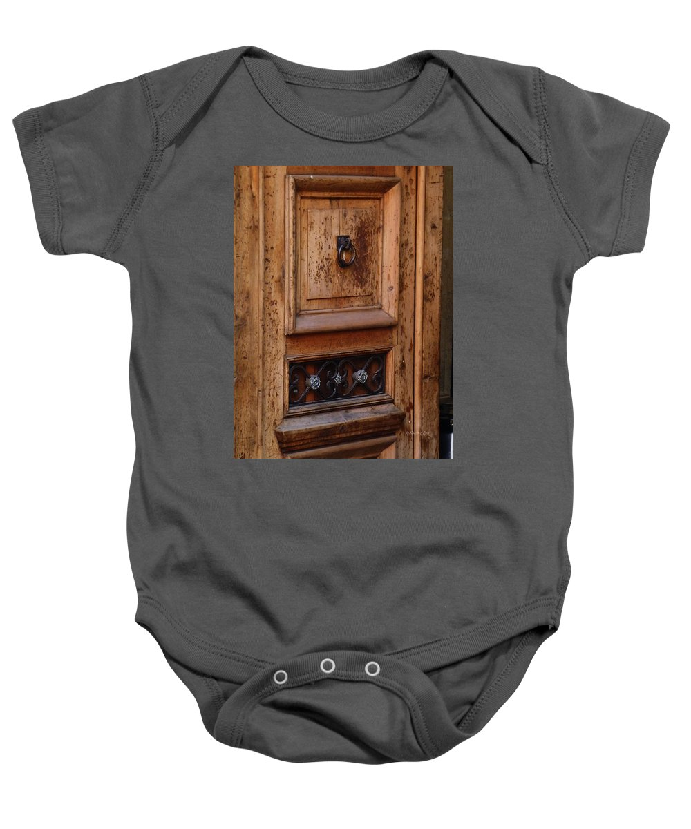 North America Baby Onesie featuring the photograph Mexican Door Decor 5 by Xueling Zou