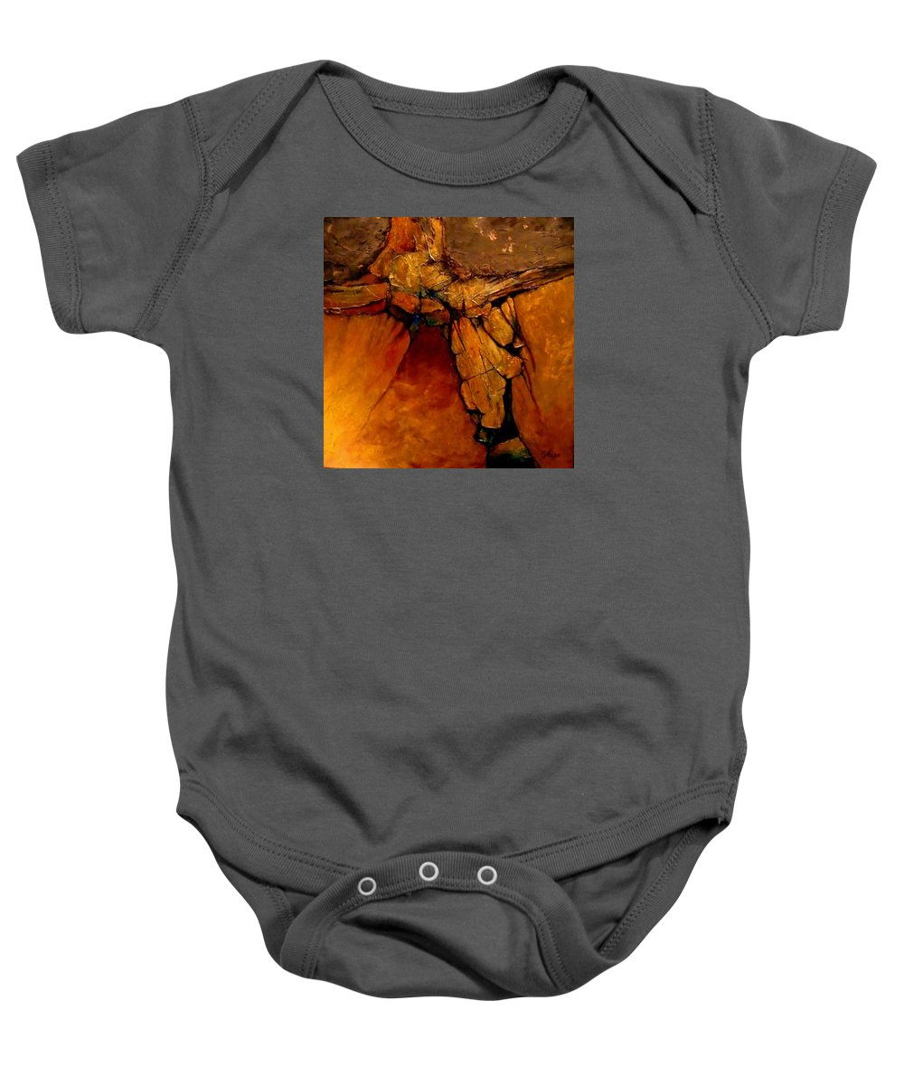 Contemporary Baby Onesie featuring the painting Midas Touch by Carol Nelson