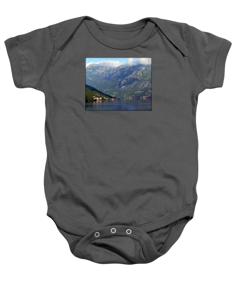 Montenegro Baby Onesie featuring the photograph Montenegro's Black Mountains by Carla Parris