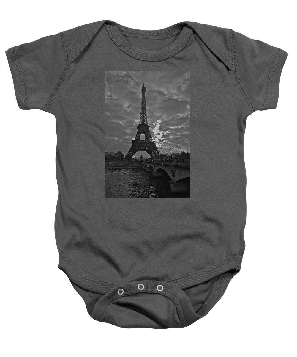Eiffel Tower Baby Onesie featuring the photograph Morning Light by Eric Tressler