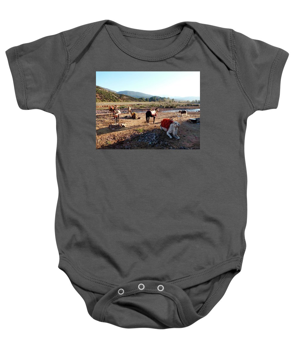 Travel Baby Onesie featuring the photograph Moroccan Fauna by Miki De Goodaboom