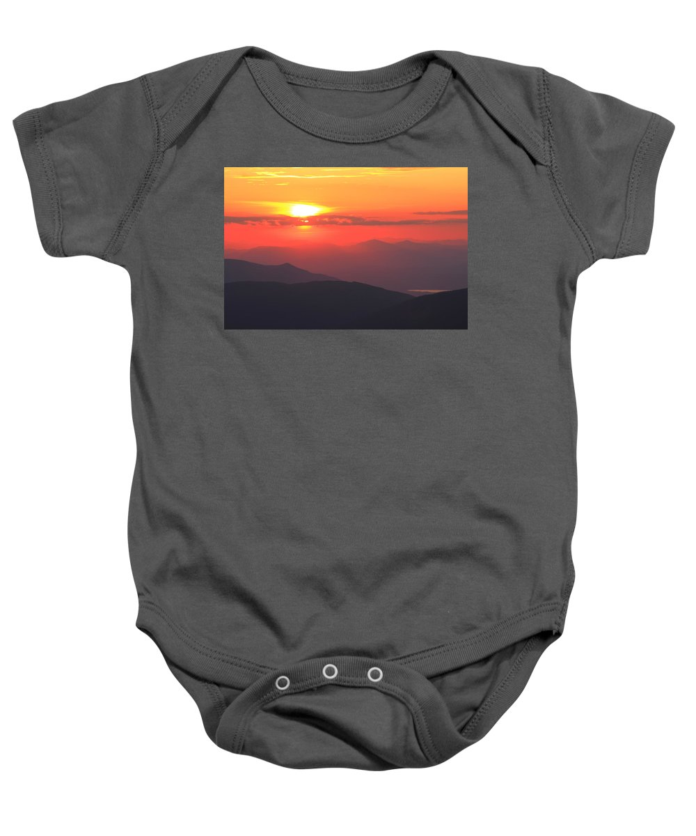 Mountain Baby Onesie featuring the photograph Mountain Sunset by Roupen Baker