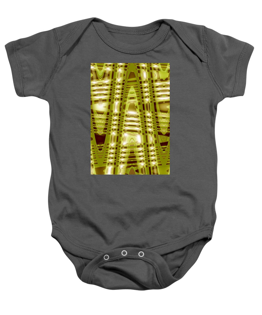 Moveonart! Global Gathering. Branch -- lightinstructure -- Digital Abstract Art By Artist Jacob Kane Kanduch -- Omnetra Baby Onesie featuring the digital art Moveonart Lightinstructure by Jacob Kanduch