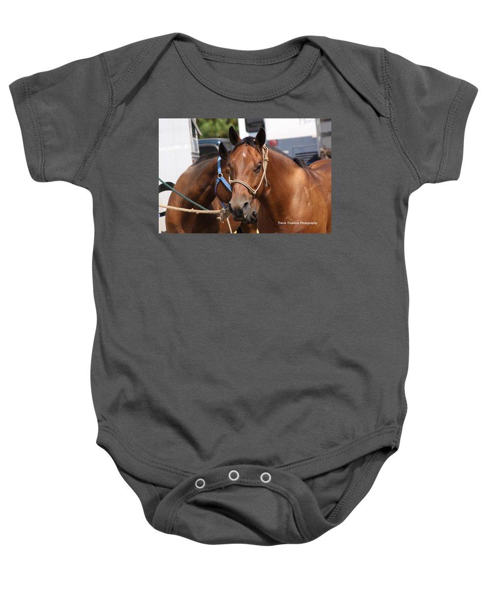 Horse Baby Onesie featuring the photograph Mule Days Benson by Travis Truelove