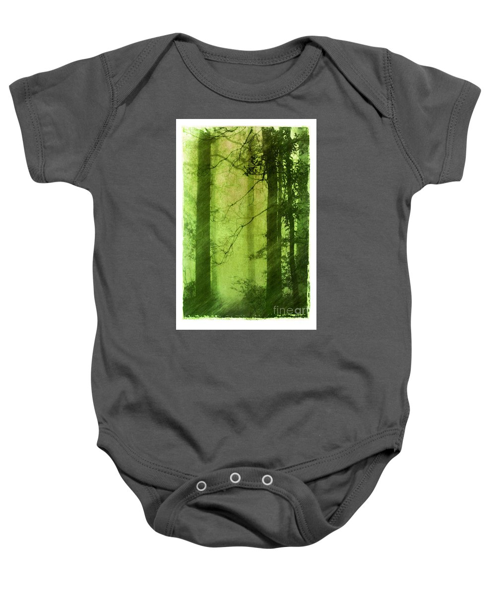 Green Baby Onesie featuring the photograph Mystical Glade by Judi Bagwell