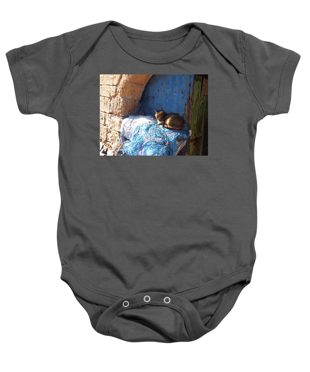 Travel Baby Onesie featuring the photograph Nap After The Meal by Miki De Goodaboom