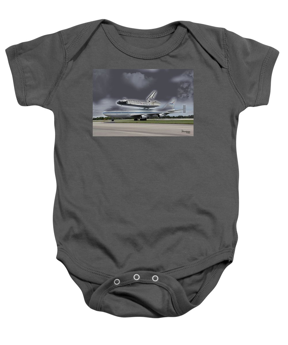 Nasa Baby Onesie featuring the photograph Nasa Space Shuttle by Ericamaxine Price