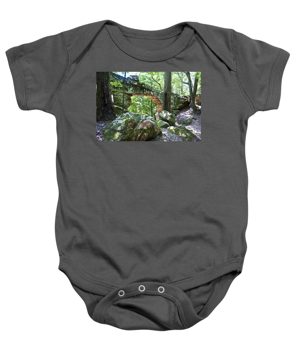 Natural Bridge Baby Onesie featuring the photograph Natural Bridge by Terry Anderson