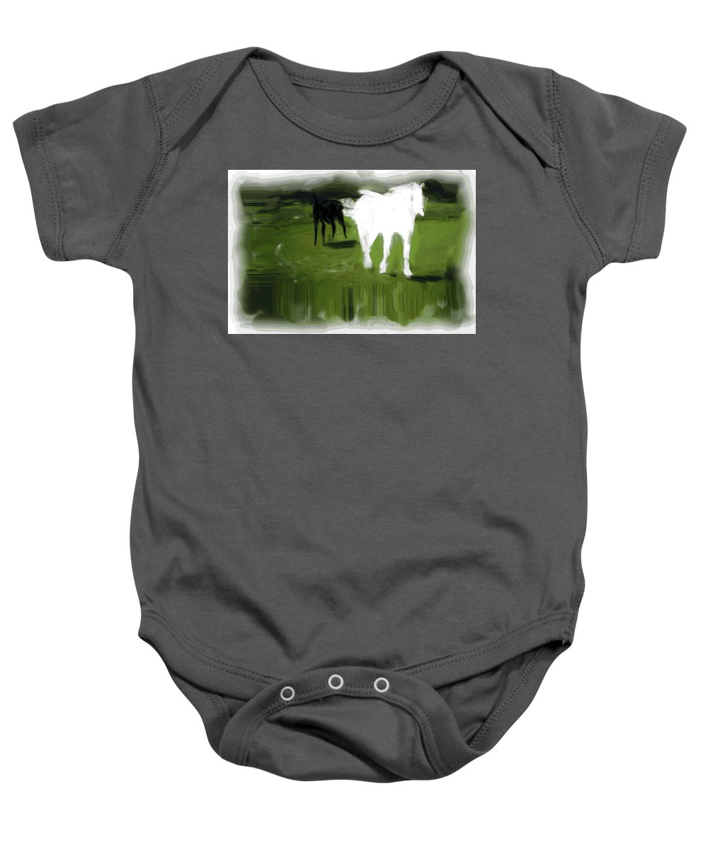 Horse Baby Onesie featuring the photograph Nearly Broke An Ankle by Trish Tritz