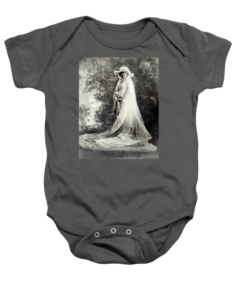 1920 Baby Onesie featuring the photograph New York: Bride, 1920 by Granger