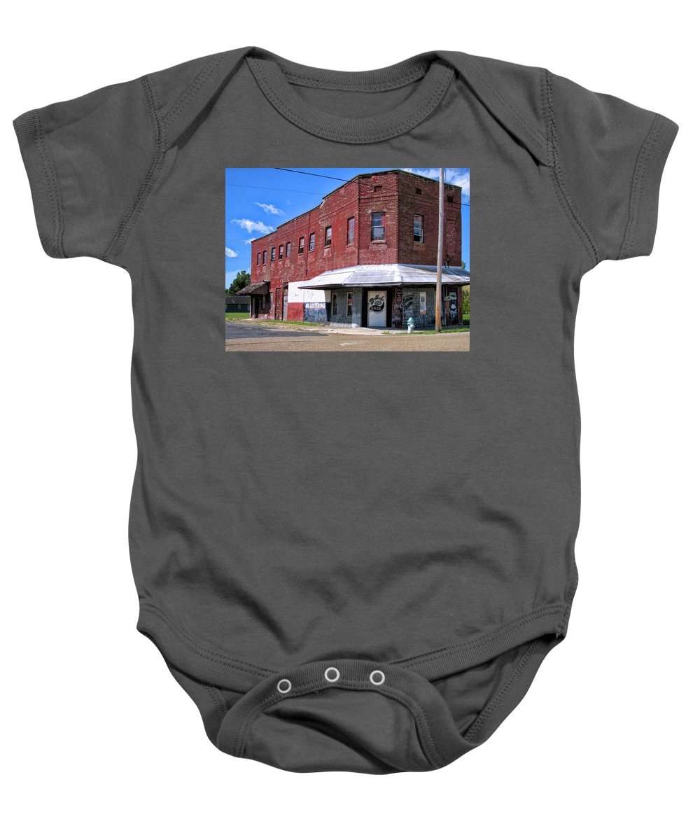 No Loitering Baby Onesie featuring the mixed media No Loitering by Dominic Piperata