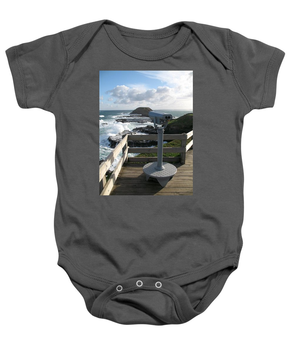 Nobbies Baby Onesie featuring the photograph Nobbies Viewpoint by Ian Mcadie