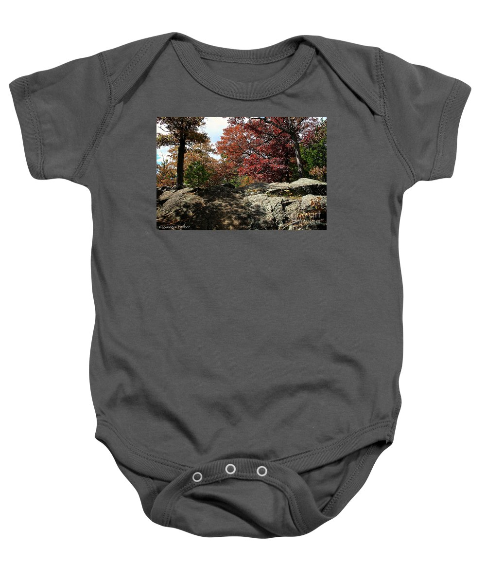 Landscape Baby Onesie featuring the photograph Oak Rock by Susan Herber