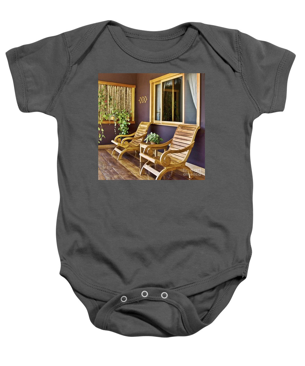 Interior Baby Onesie featuring the photograph Oasis Of Calm by Heiko Koehrer-Wagner