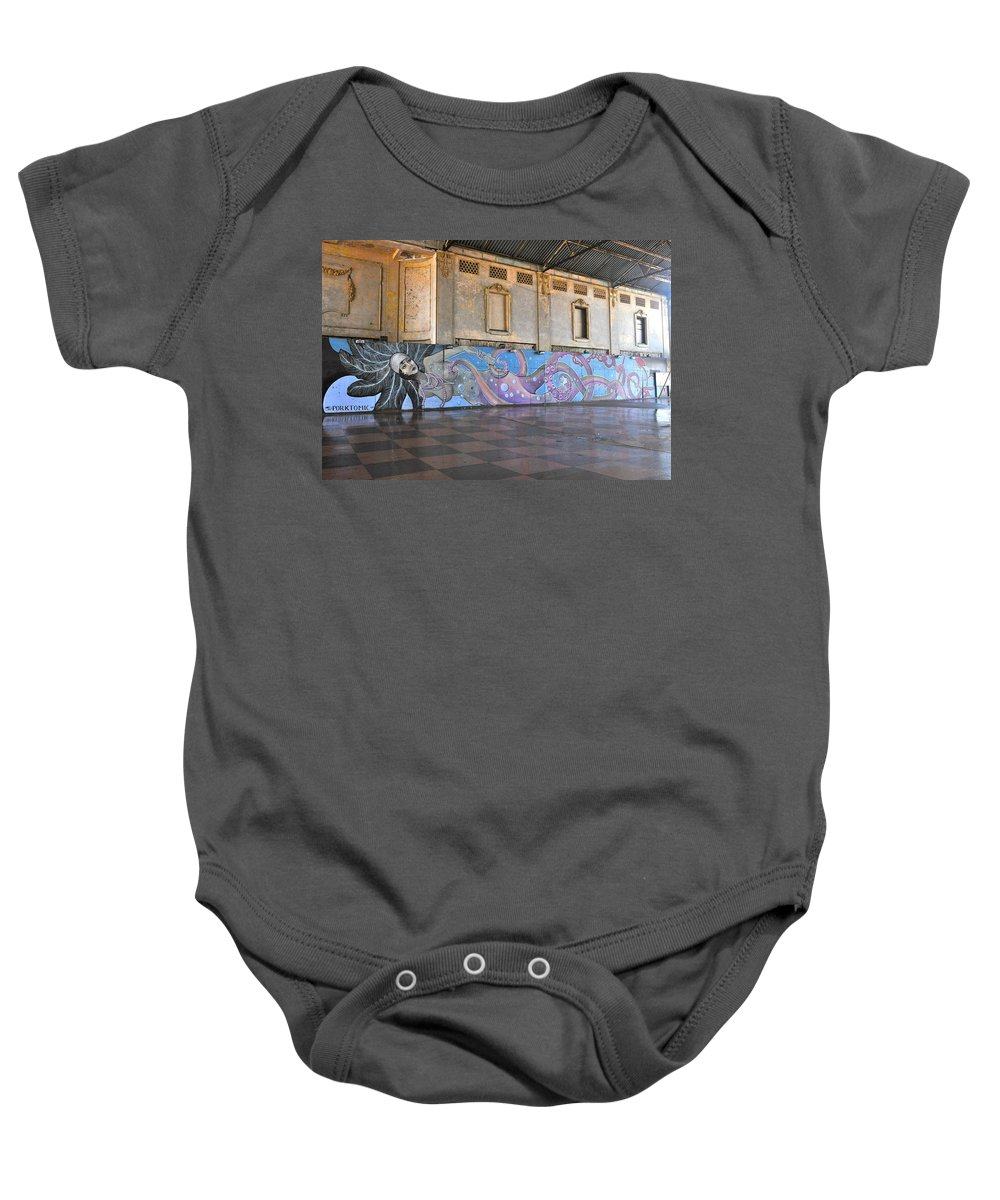 Asbury Park Baby Onesie featuring the photograph Octo-mermaid by Catherine Conroy