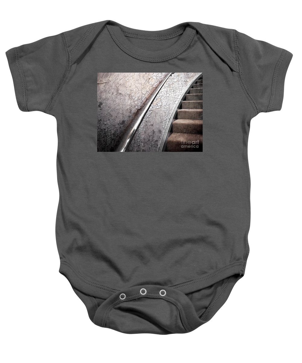 Textures Baby Onesie featuring the photograph Old And New by Ellen Cotton