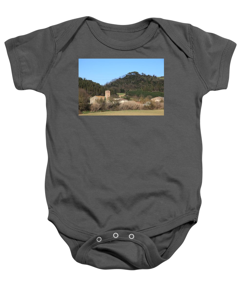 Church Baby Onesie featuring the photograph Old Church Near Montelupo by Francesco Scali