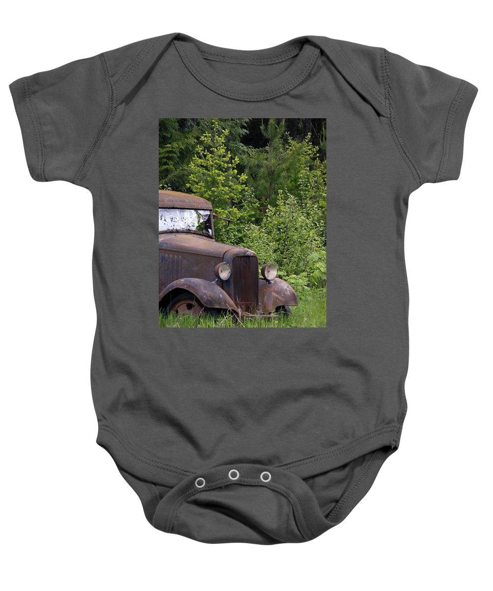 Classic Baby Onesie featuring the photograph Old Classic by Steve McKinzie