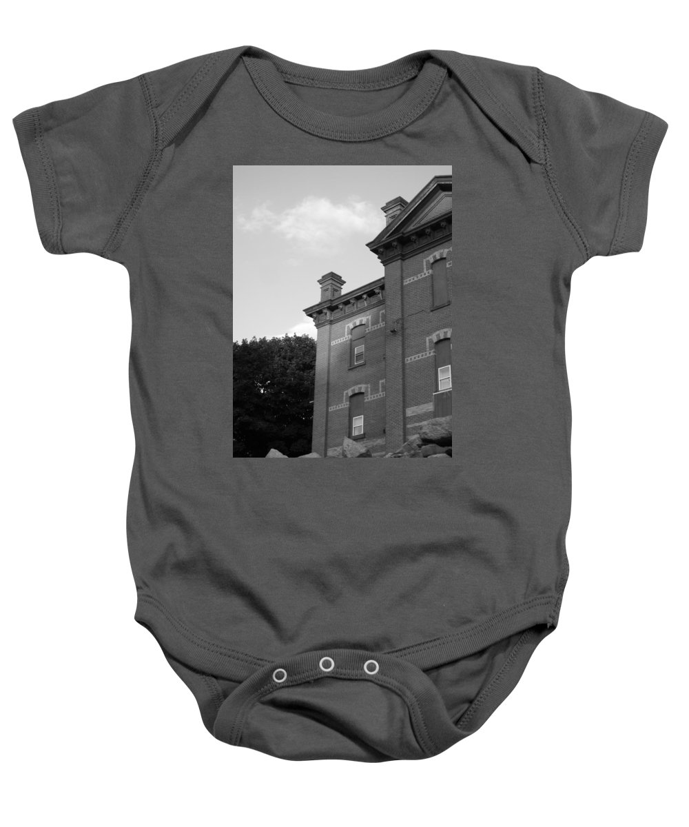 Old School House Baby Onesie featuring the photograph Old School House by Michele Nelson