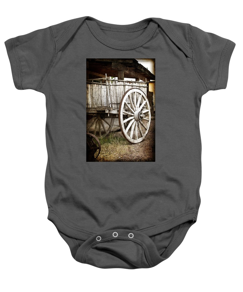 Tombstone Baby Onesie featuring the photograph Old West by Jay Hooker