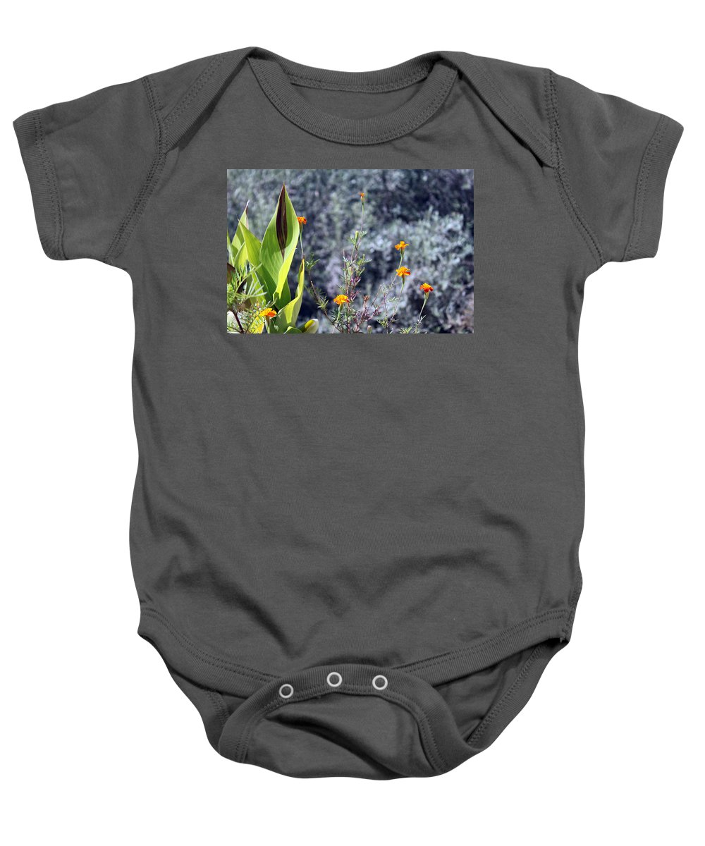Olive Baby Onesie featuring the photograph Olive Trees In The Background by Munir Alawi