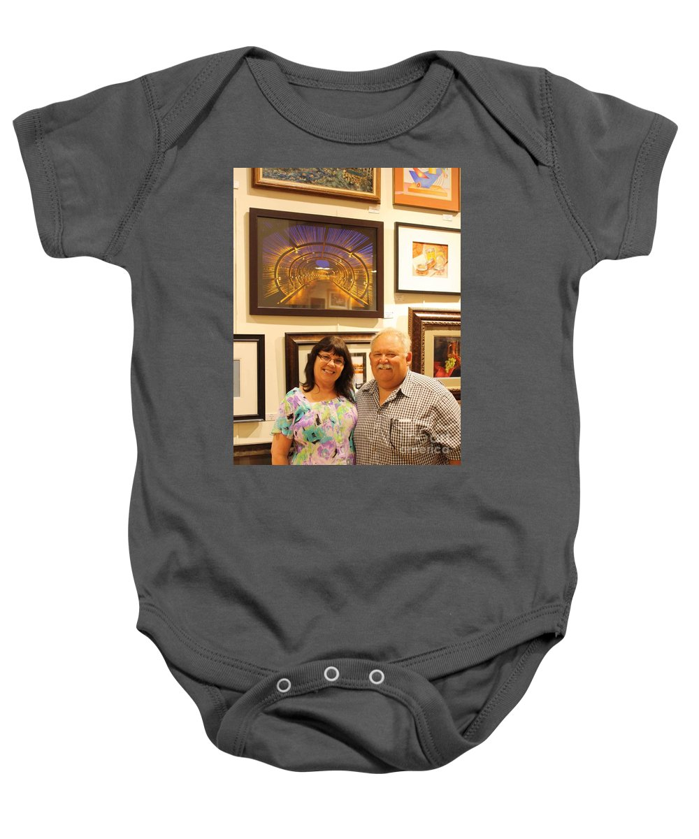 Baby Onesie featuring the photograph On Display by Tommy Anderson